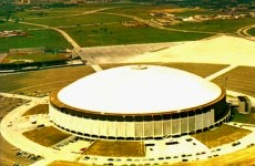 Aerial view of the Astrodome with old Colt Stadium